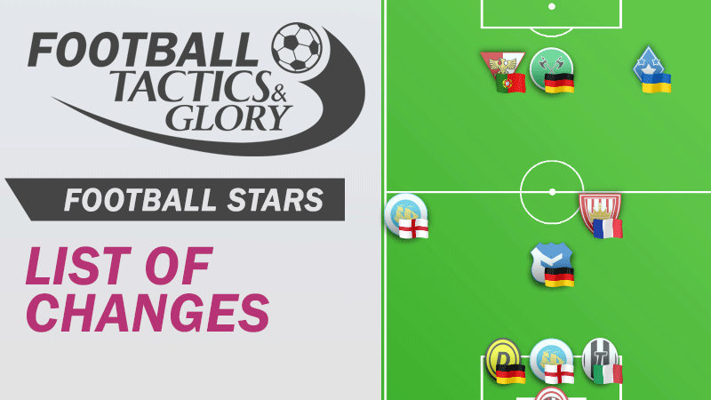 List of changes in Football Stars